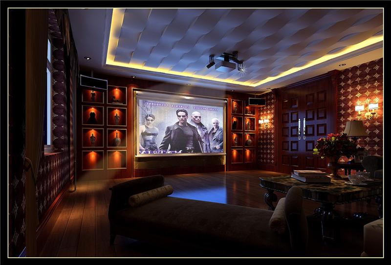 别墅装修客厅影视厅效果图-张总