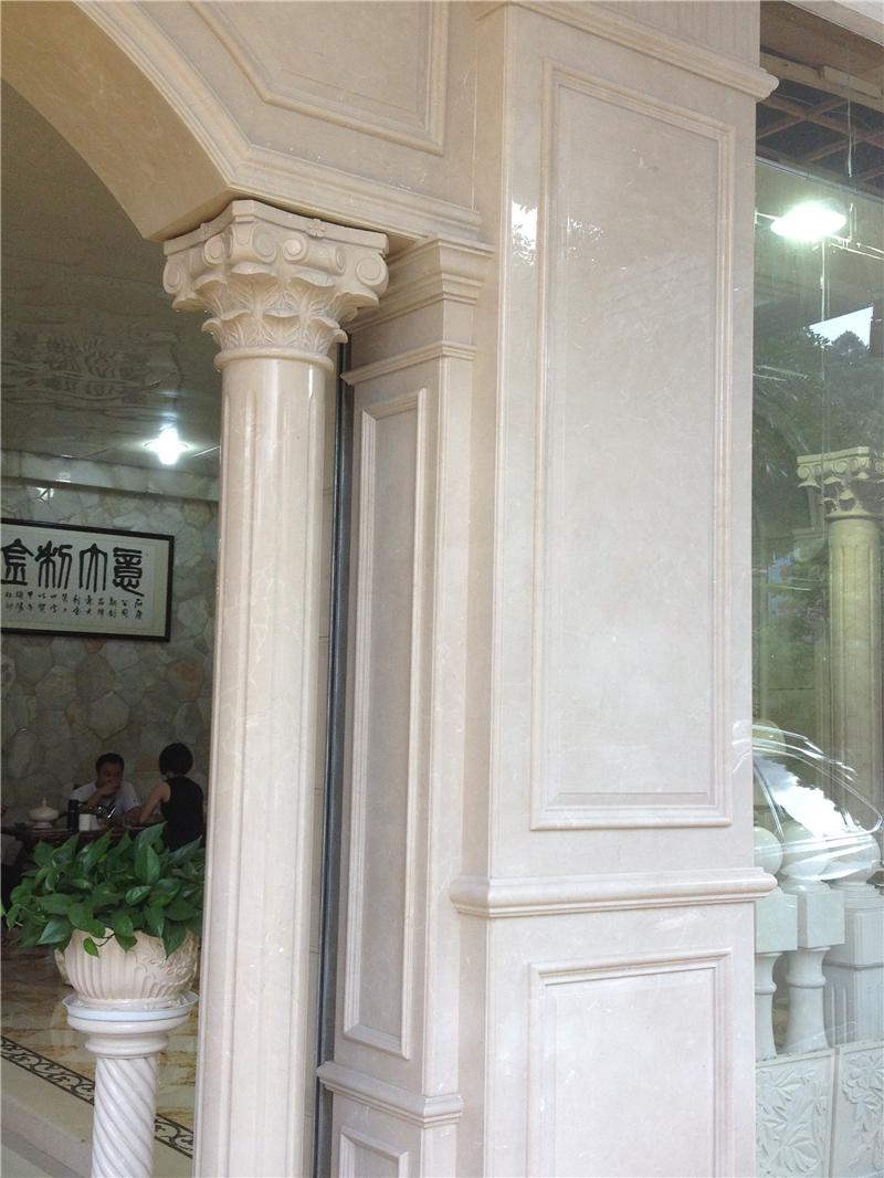 大理石包柱子效果图