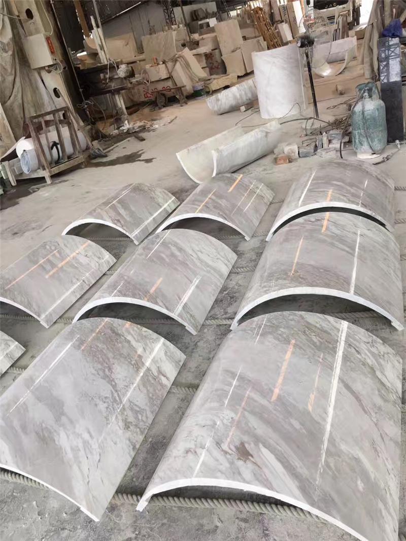 干挂石材线条柱子