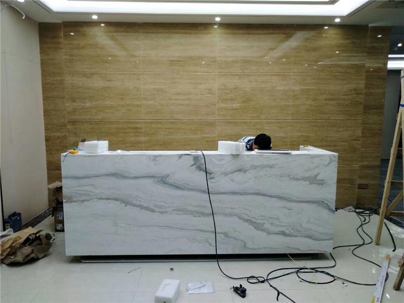 大理石台面、公司前台石材背景